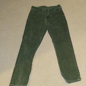 Levi's 514 corduroy 31x30 Green Pants